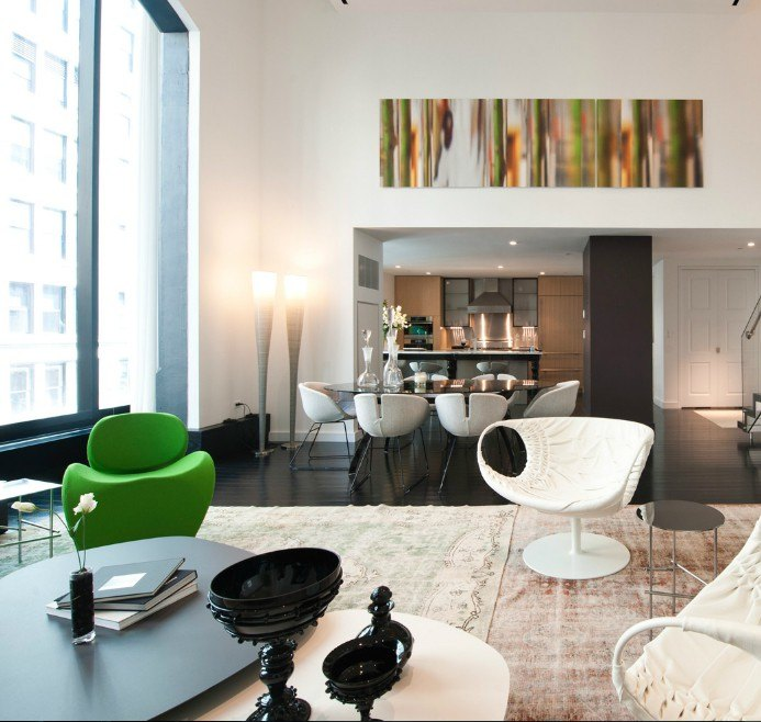 15 union square west flatiron nomad manhattan scout - The living room at the w union square ...