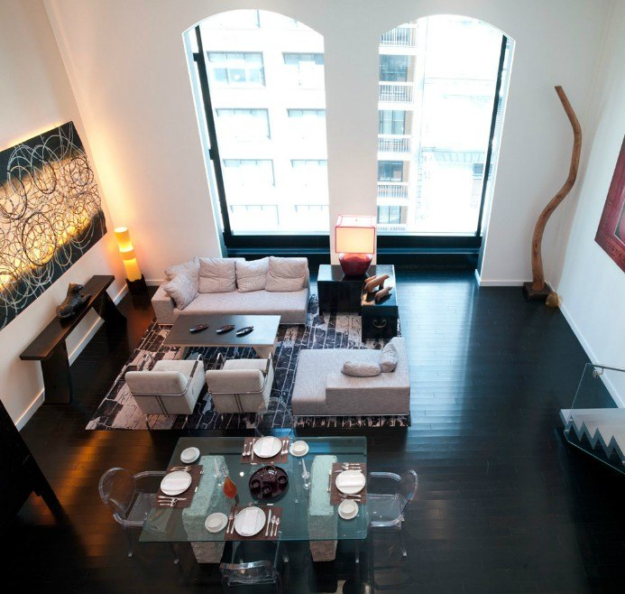 15 union square west in flatiron nomad luxury - The living room at the w union square ...