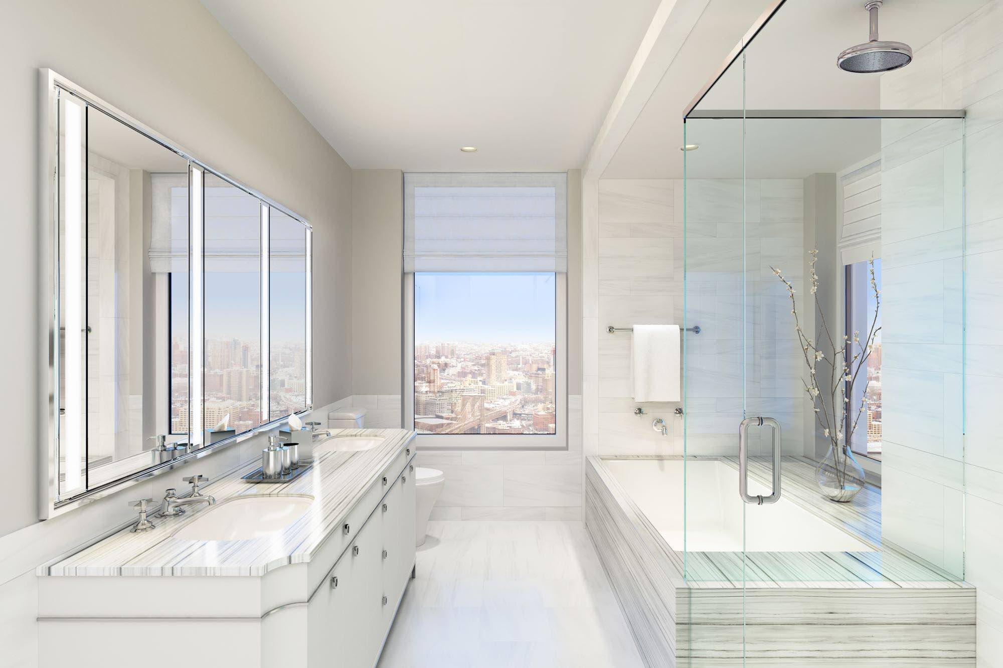Four seasons private residences 30 park place for Bathroom designs york