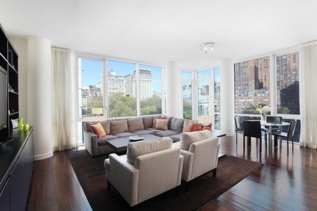 8 union square south at 36 east 14th street in greenwich - The living room at the w union square ...