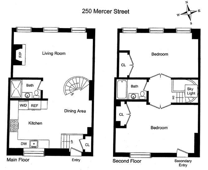 Manhattan apartments floor plans for Floor plans new york city apartments