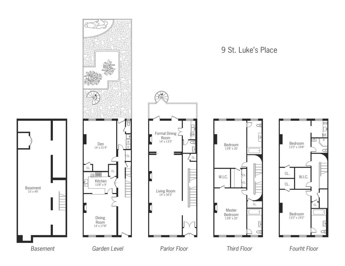 Urban townhouse layout joy studio design gallery best for Townhouse plans