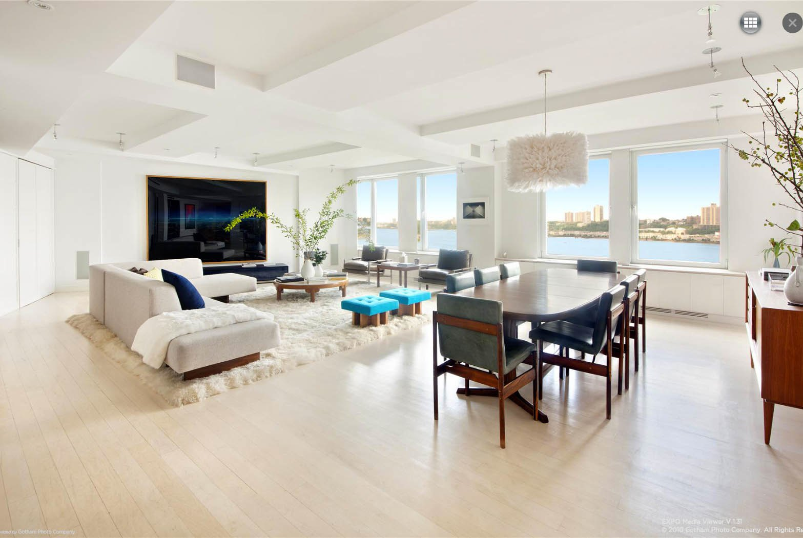 Ben Stiller Apartment At 118 Riverside Drive Living Room