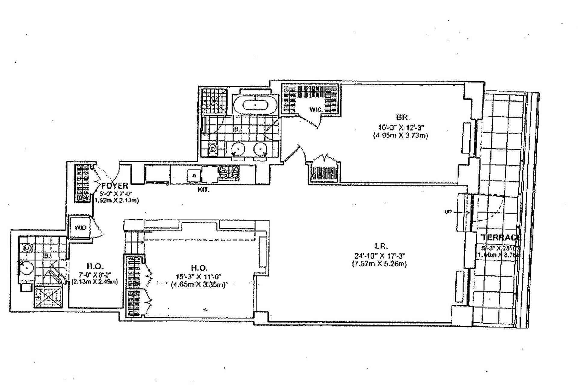 Downtown by philippe starck 15 broad street manhattan for 1200 post oak floor plans
