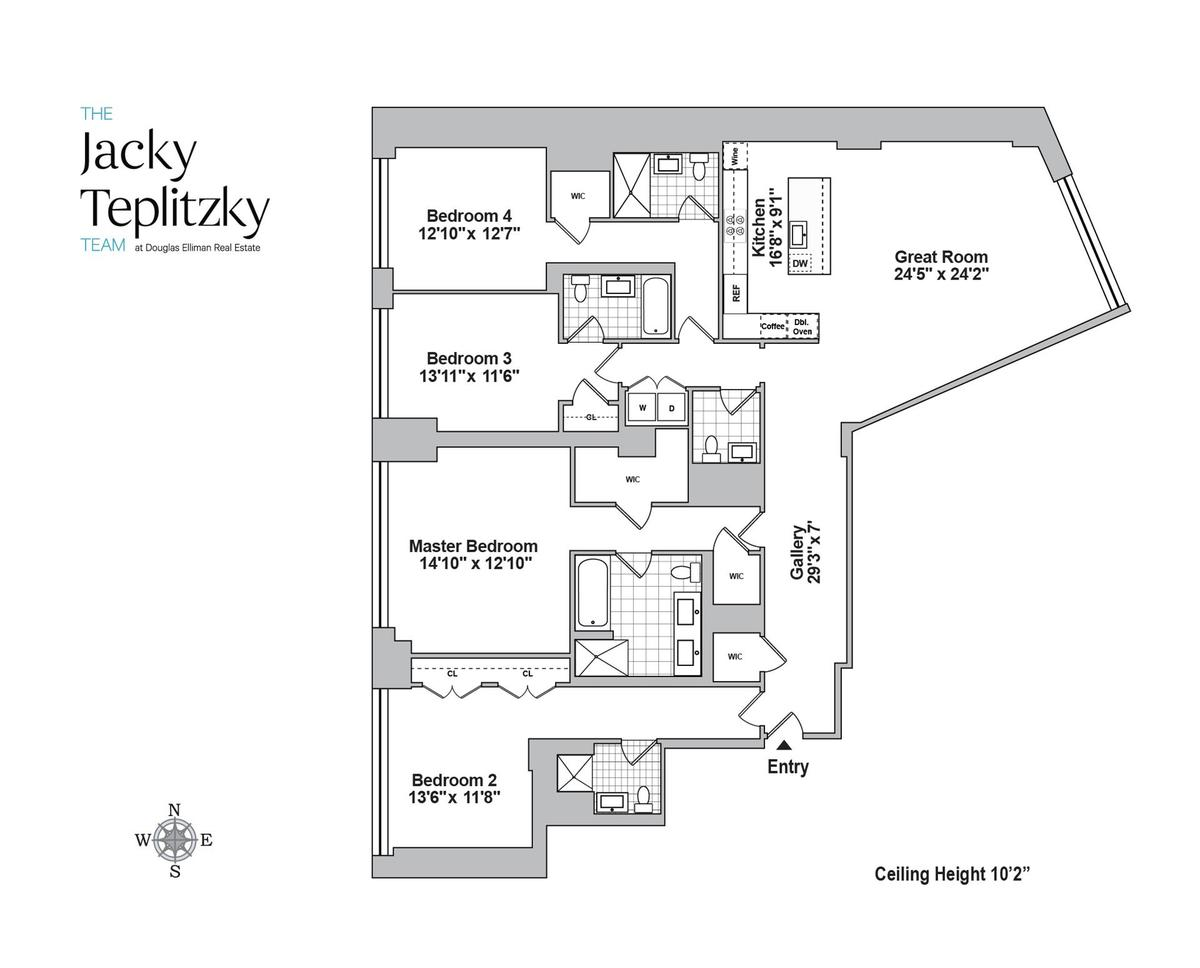Professional apartment floorplans douglas heights luxury for 10 madison square west floor plans