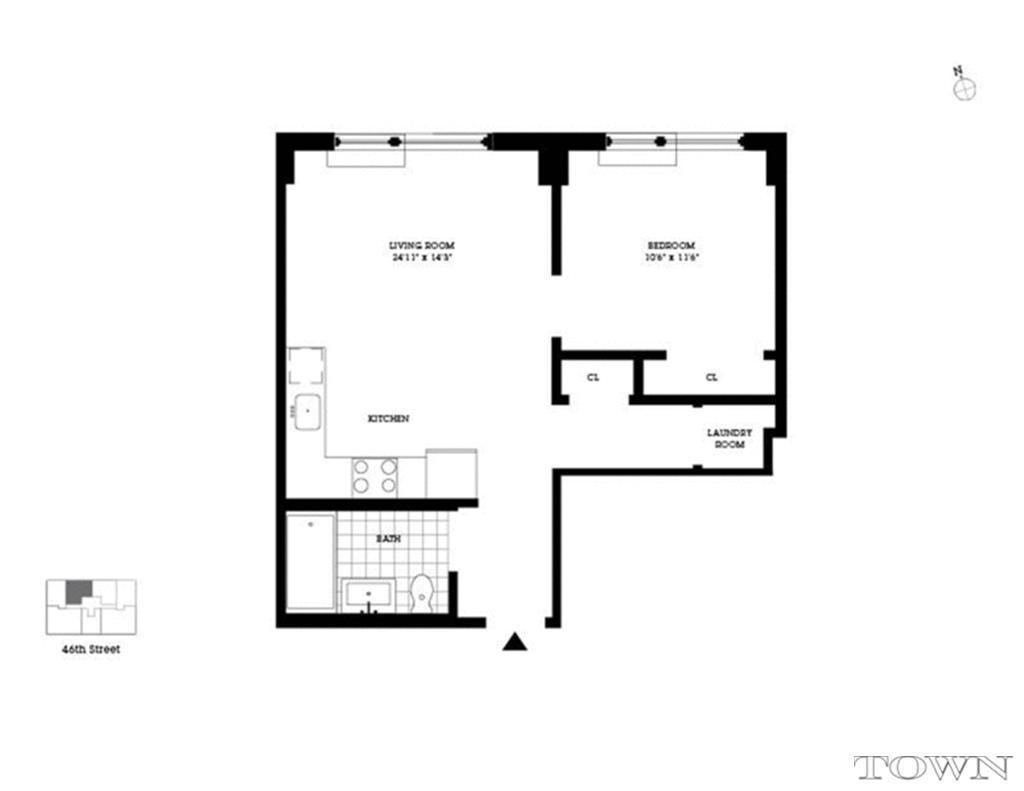 517 west 46th street midtown west manhattan scout for 1200 post oak floor plans