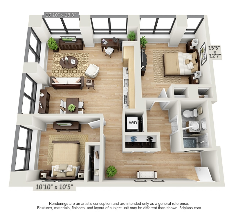 Wall Street Apartments: Dwell 95 - 95 Wall Street - Luxury Apartments
