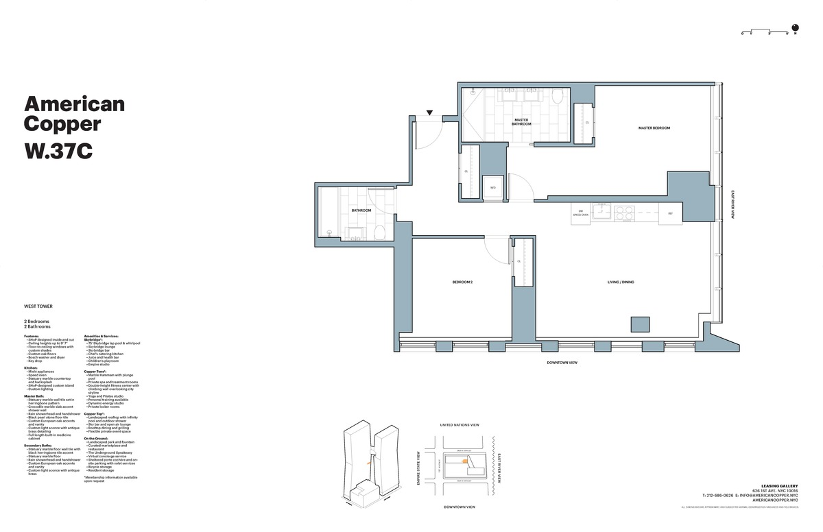 American copper buildings murray hill manhattan scout for American floor plans
