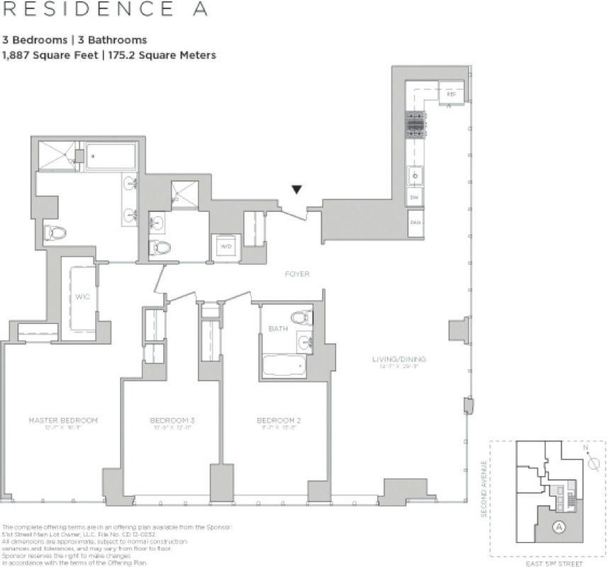 3 Bedroom Rentals Nyc: Halcyon At 305 East 51st Street In Midtown East