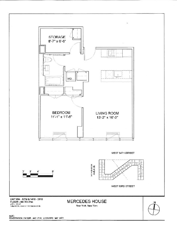 Mercedes House 555 West 53rd St NYC – Mercedes House Floor Plans