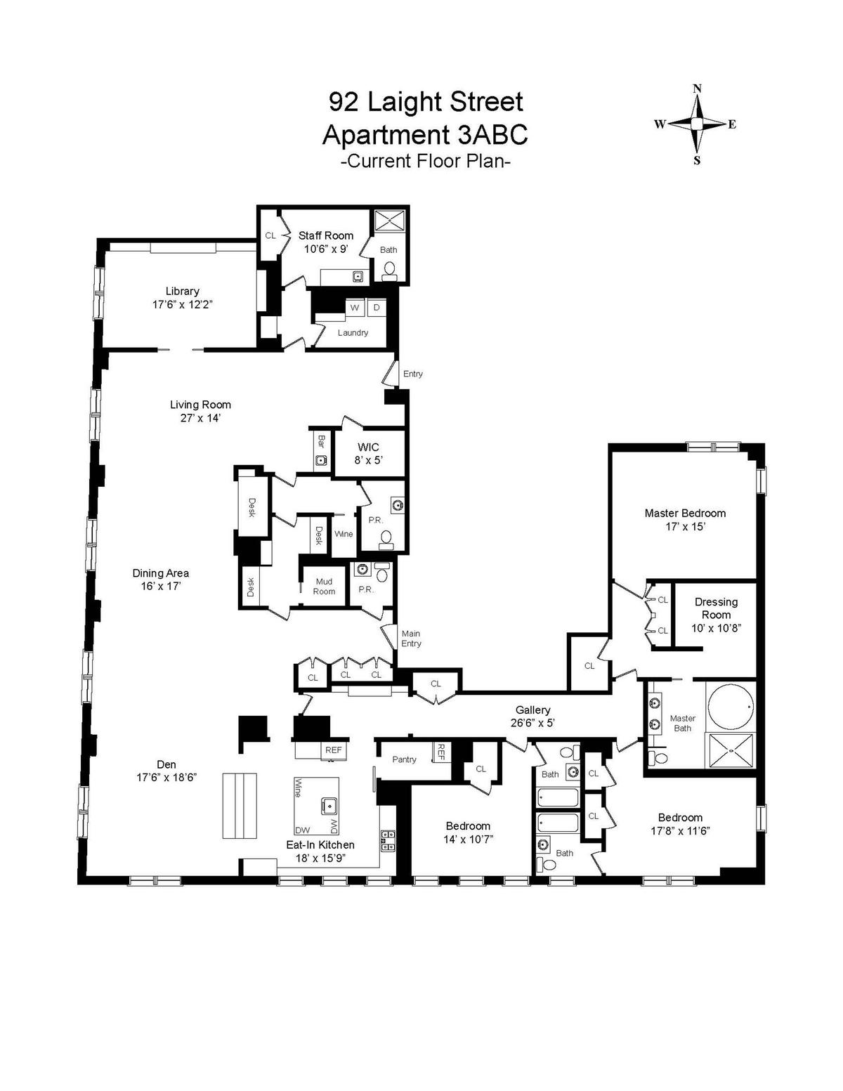 River lofts 92 laight st apartments manhattan scout for Loft floorplans
