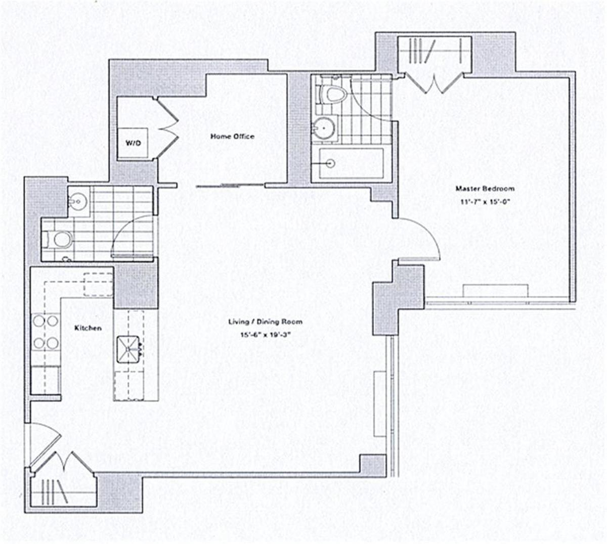 The sheffield 322 west 57th st nyc manhattan scout for Sheffield floor plan
