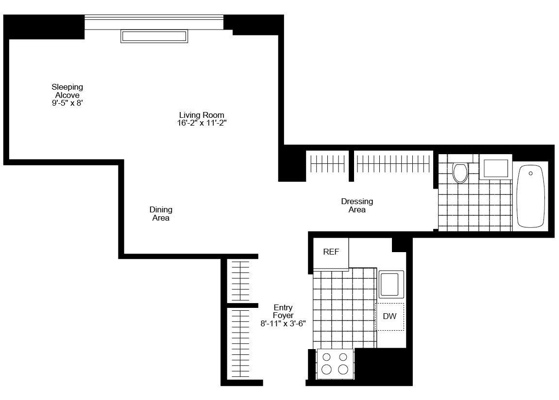 The westport 500 west 56th st apartments manhattan scout for Westport floor plans
