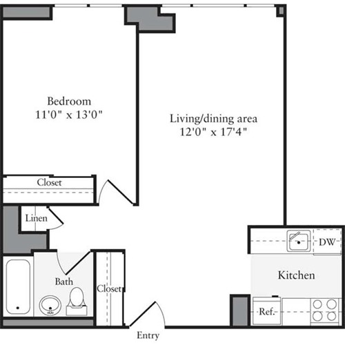 Archstone Apartments: Archstone West 54th At 505 West 54th Street In Midtown