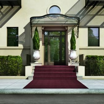 478 Central Park West with its elegant entrance