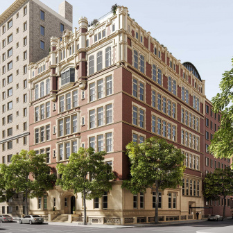 Luxury condos at 555 West End Ave