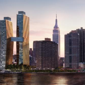 American Copper Buildings - skyline