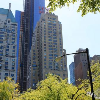 The famous JW Marriott Essex House at 160 Central Park South