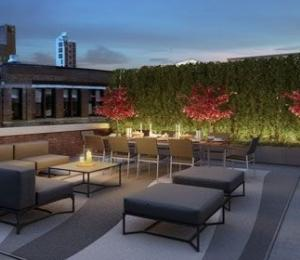 The Schumacher rooftop terrace