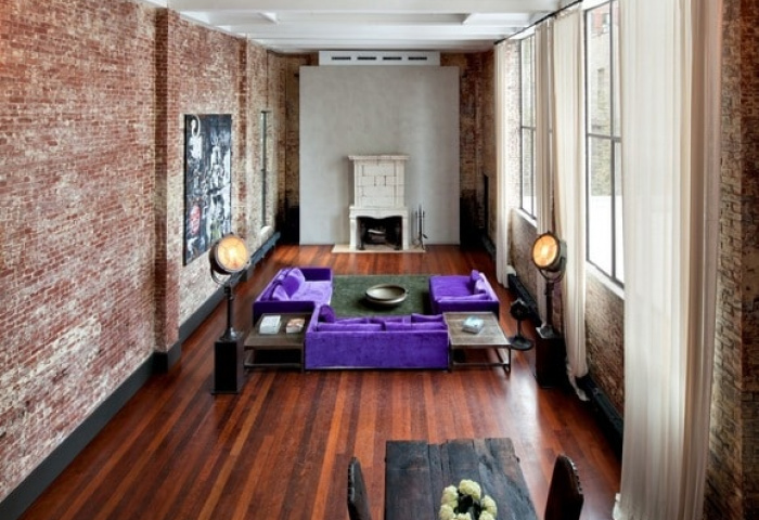 215 Lafayette Street living room aerial view