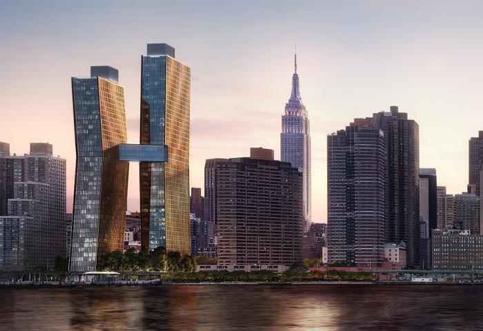 American Copper Buildings - skyline