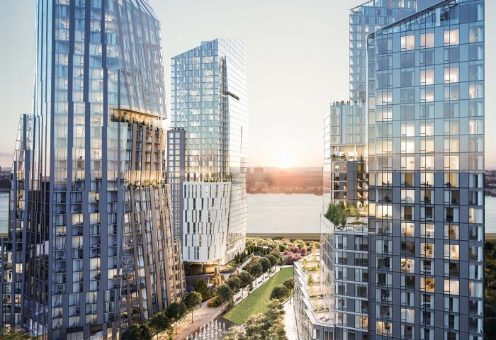 Apartments for sale at One Waterline Square in NYC