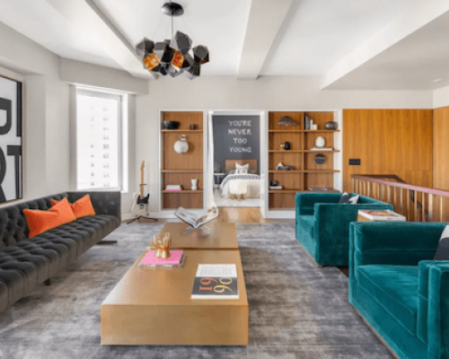 Keith Richards One Fifth Ave Living Room