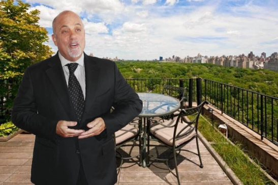 Award-Winning Pianist Billy Joel Sells Apartment Overlooking Central Park
