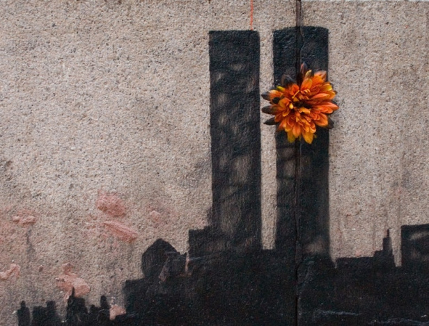 Banksy twin towers