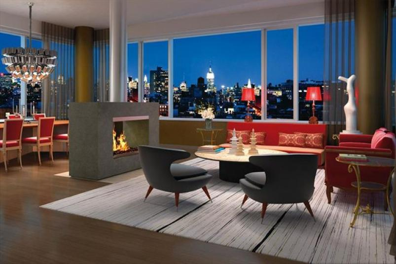 350 West Broadway living room