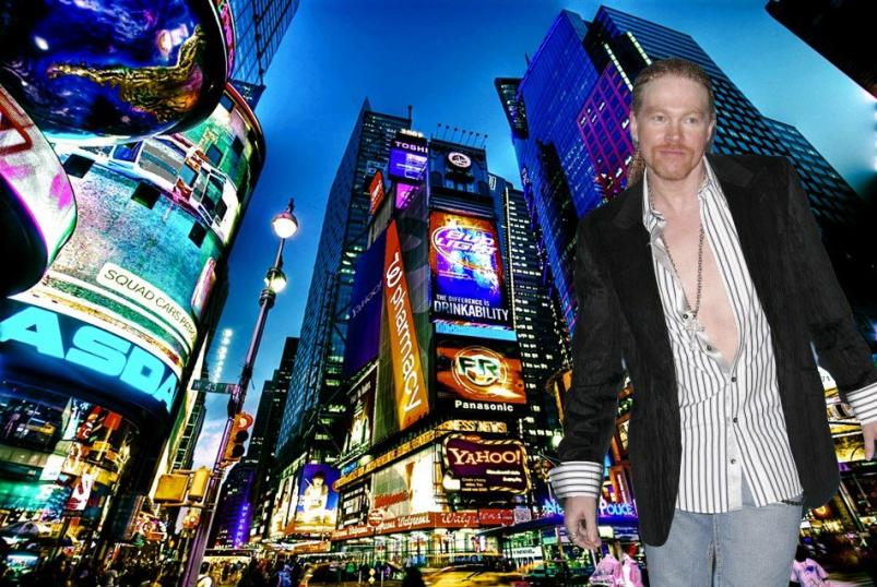 Axl Rose going to NYC