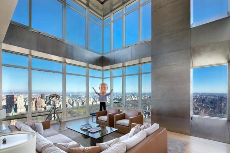 151 East 58th Street duplex living room