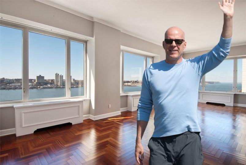 Bruce Willis and 220 Riverside Blvd NYC