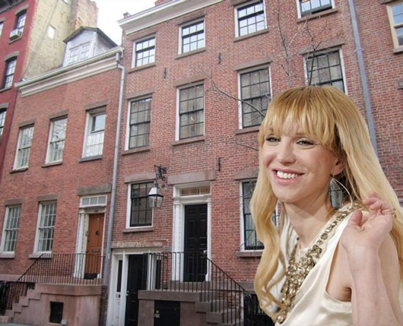 Courtney Love old townhouse at 250 West 10th Street