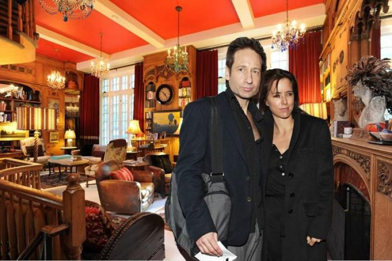 David Duchovny and Tea Leoni 170 east 78th nyc