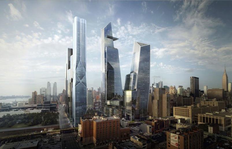 Groundbreaking on Hudson Yards in New York City