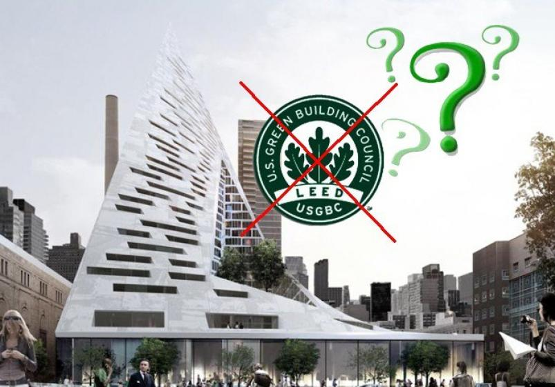 The Pyramid at 625 West 57th Streets Does Not Seek For LEED