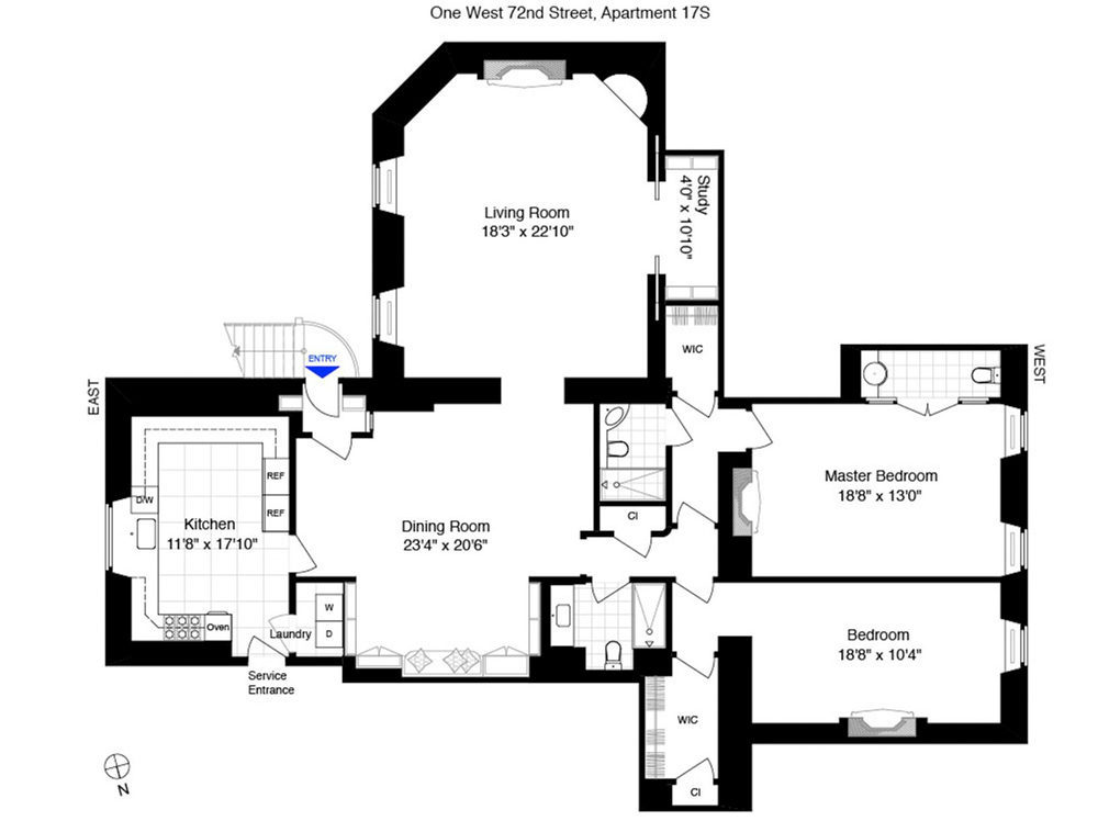 Image gallery old apartment floor plans for Floor plans 740 park avenue