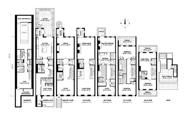 Leonardo DiCaprio and 45 East 74th St floor plan