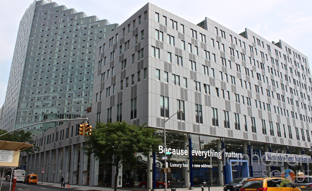 Mercedes house 555 west 53rd st nyc manhattan scout for Mercedes benz of manhattan new york city