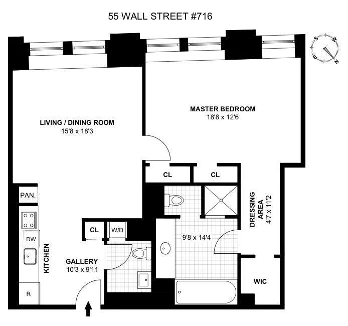 Wall Street Apartments: Cipriani Club Residences At 55 Wall At 55 Wall Street In