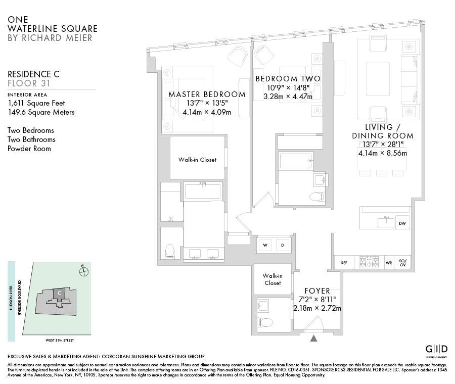 24 Manhattan Apartment Floor Plans The 11 Most: One Waterline Square At 10 Riverside Boulevard In Upper