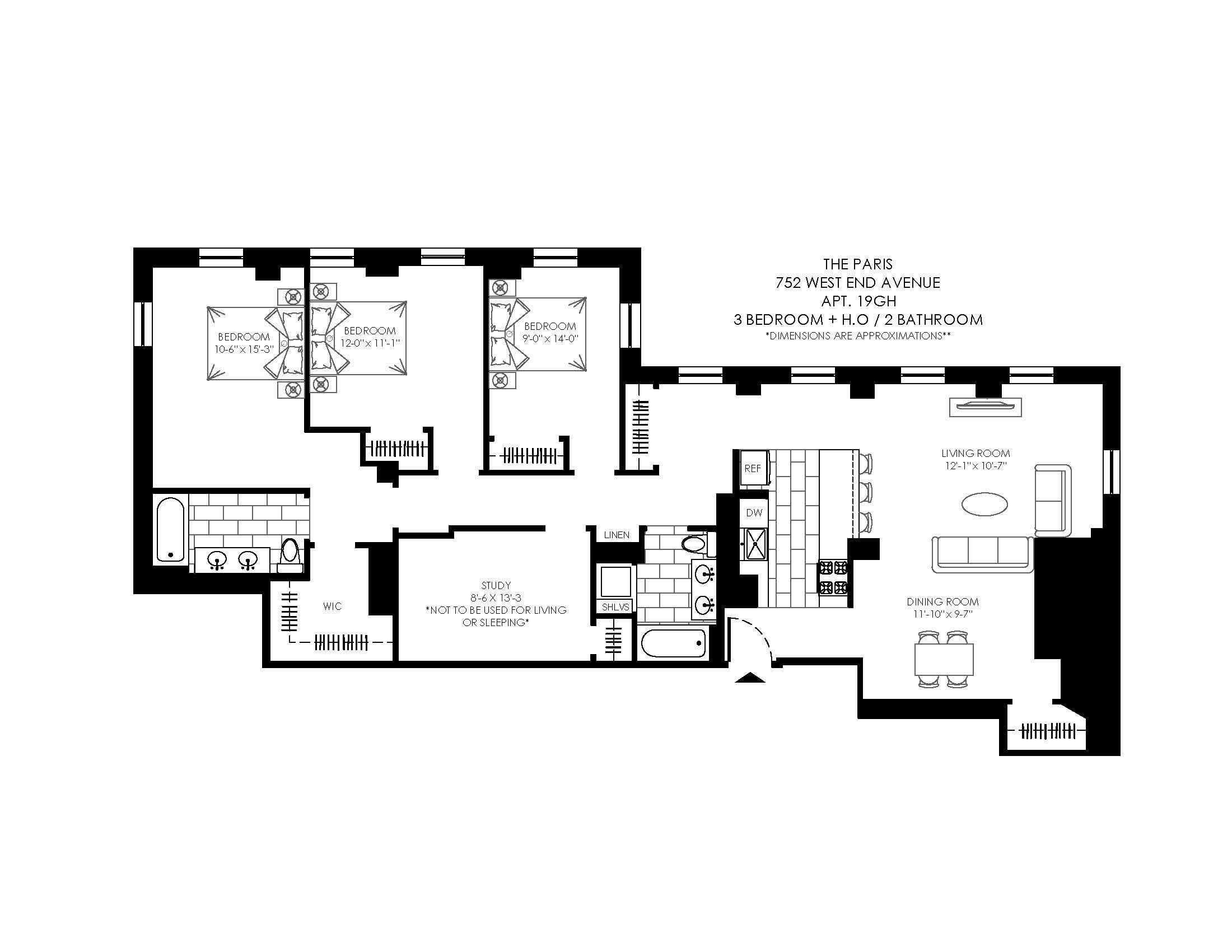 The Paris 752 West End Ave Apartments