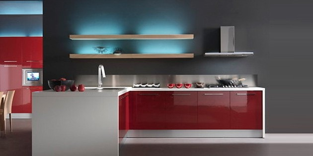 gloss lacque cabinetry tiles