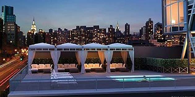 All Nyc Apartment Buildings With Private Roof Cabanas
