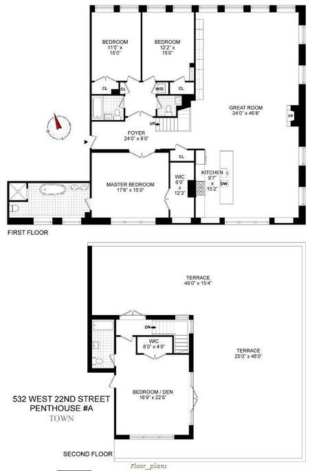 Kate Winslet Penthouse Floorplan