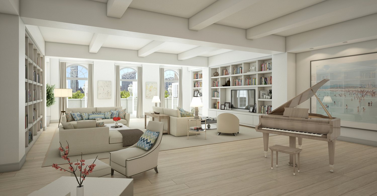 the living room ny a glimpse into j lo s new apartment 14927