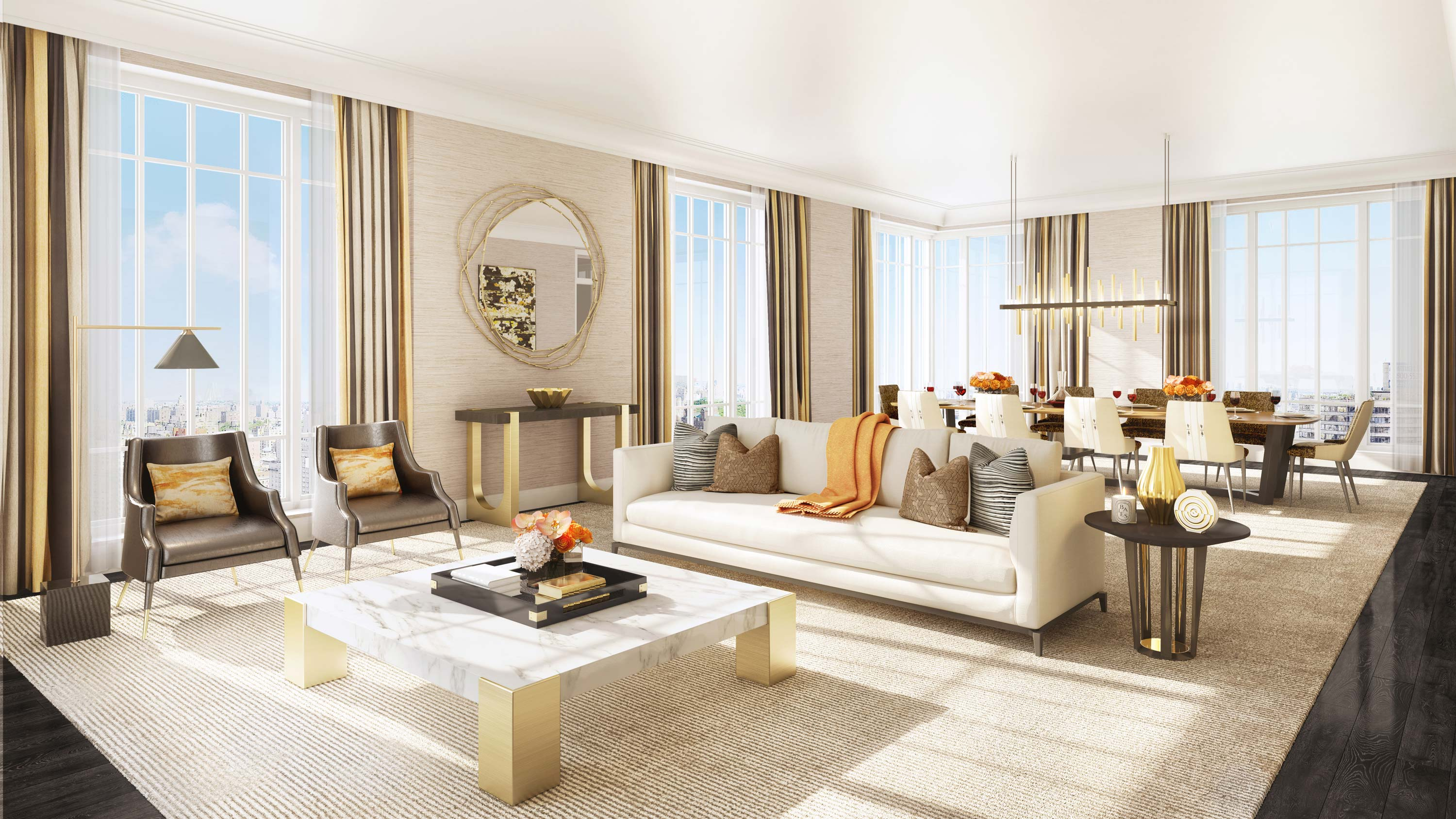 Living Room at 200 East 95th Street in Upper East Side. The Kent   Upper East Side   Manhattan Scout